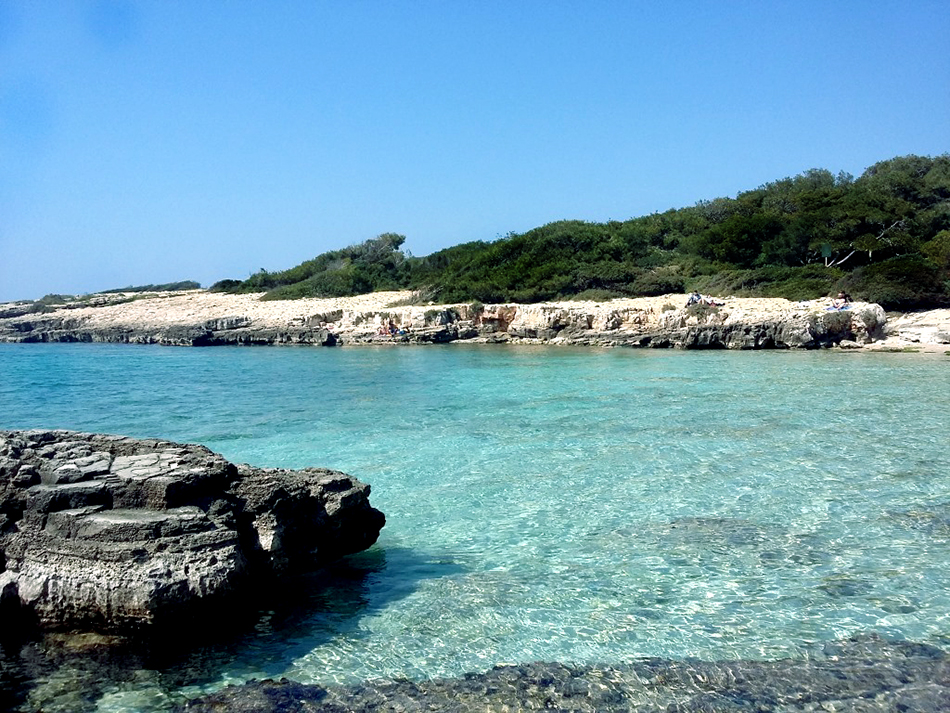 Porto Selvaggio - an attractive secluded beach that is rarely crowded even in high summer.